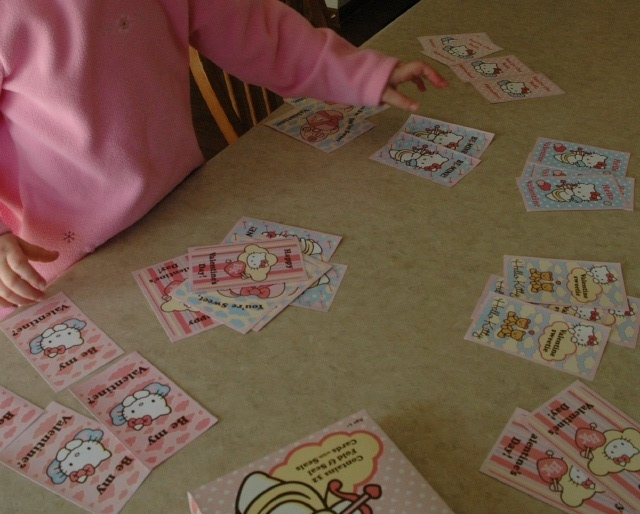 Valentine Card Sorting