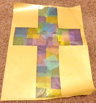 Tissue Paper Cross