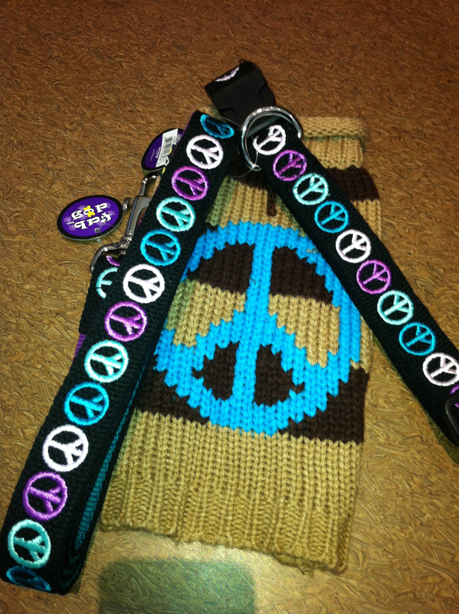 Peace dog collar and jacket