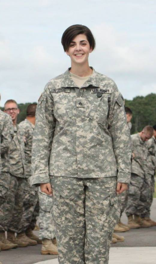Brigitte at a recent drill for the MN Army National Guard