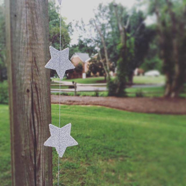 Silver star garlands! Available soon at www.autumn-anemone.com!  #wedding #handmade #decor #garland #stars #glitter #budgetwedding #bridalshower #babyshower