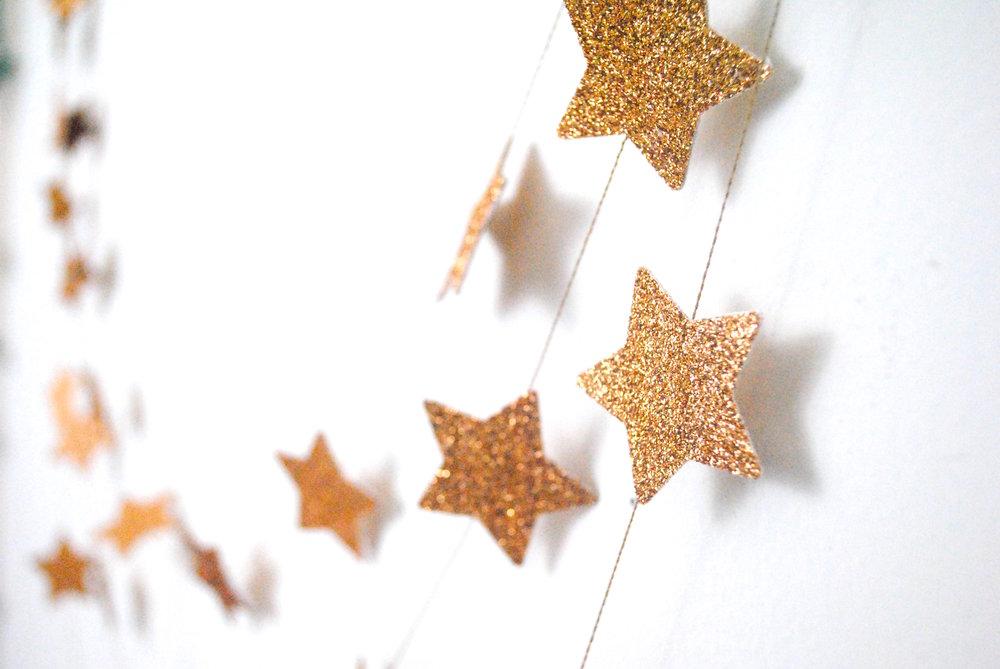Copper Star Garland