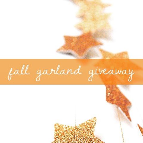 WIN a FREE copper star glitter garland in our fall giveaway! See rules: http://autumn-anemone.com/giveaway/ GIVEAWAY WINNER WILL BE ANNOUNCED ON OCTOBER 1st! #AAGarlandGiveaway  #win #giveaway #wedding #weddinggiveaway #glitter #garland #free #handmade