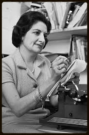Reporter Helen Thomas at work.