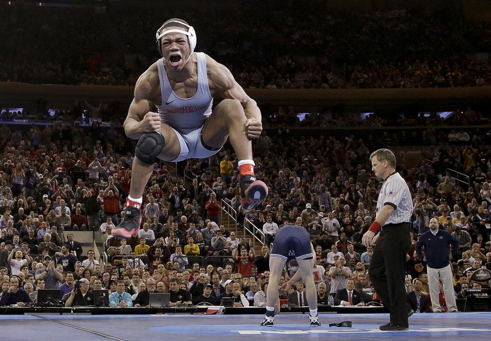 "SPORTS - Julie Jacobson, The Associated Press ""Wrestling Champ"""