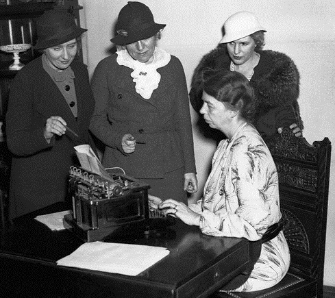 Former Newswomen Club Members including Eleanor Roosevelt (seated).