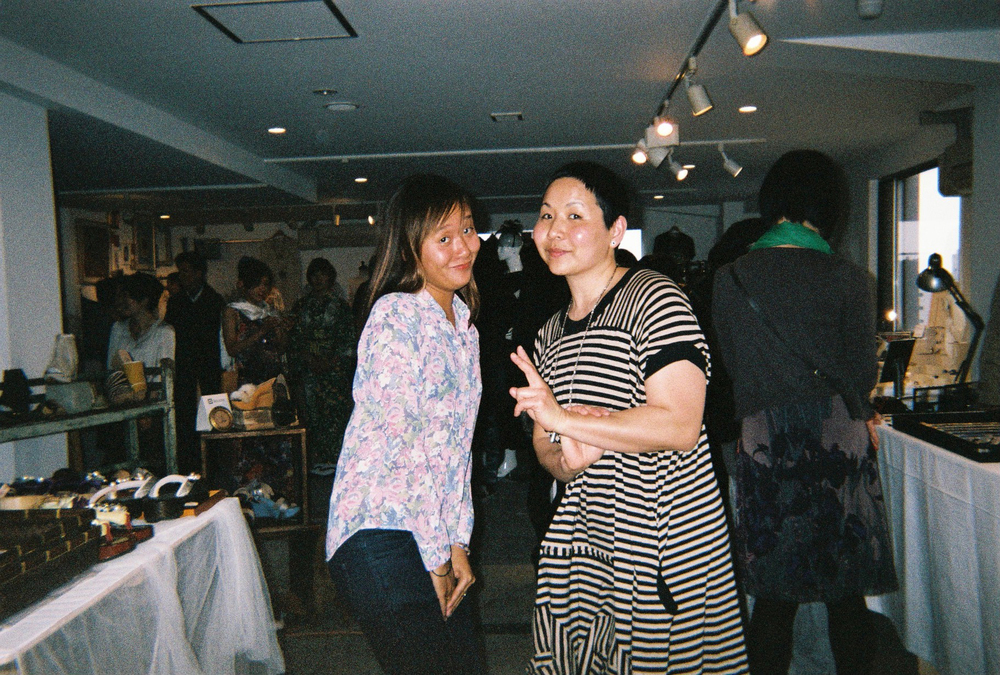 Ellen (left) and SAD Mag friend and BLIM founder Yuriko Iga at the KIRAKIRA TOKYO Fashion show (at Claska Hotel).