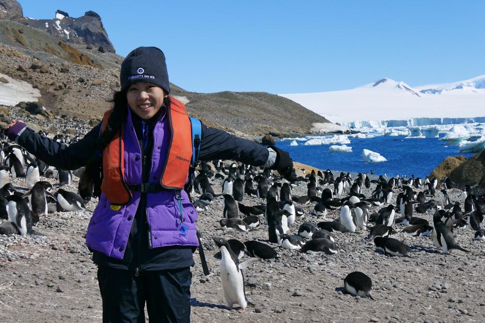 Tiffany Quon in Antarctica