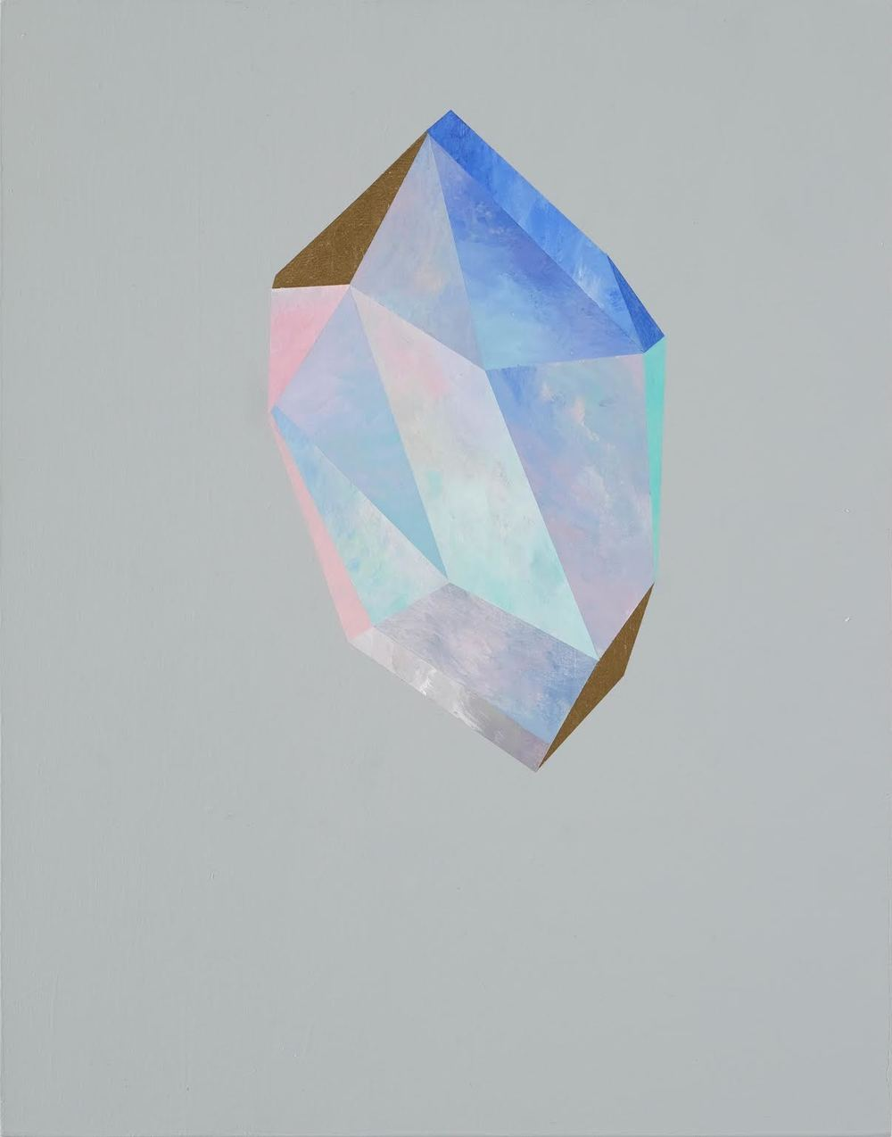 """Gold Crystal #58"" by Rebecca Chaperon"