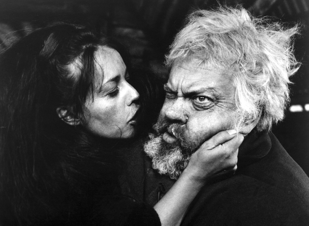 Film still from Welles'  Chimes at Midnight