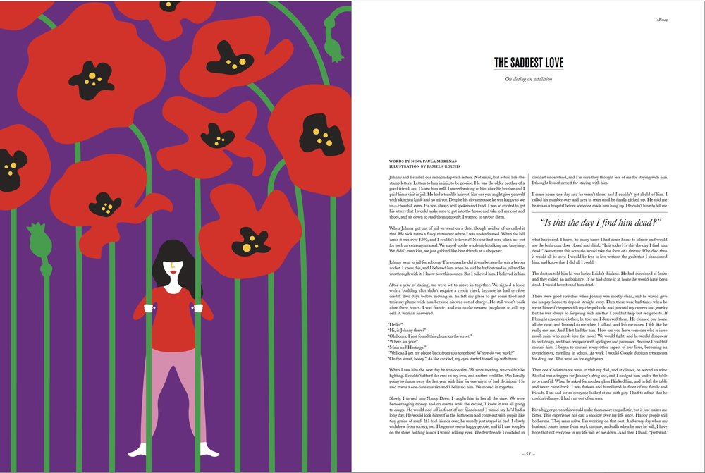 SAD MAG Issue No. 22: Secrets, Illustration by Pamela Rounis