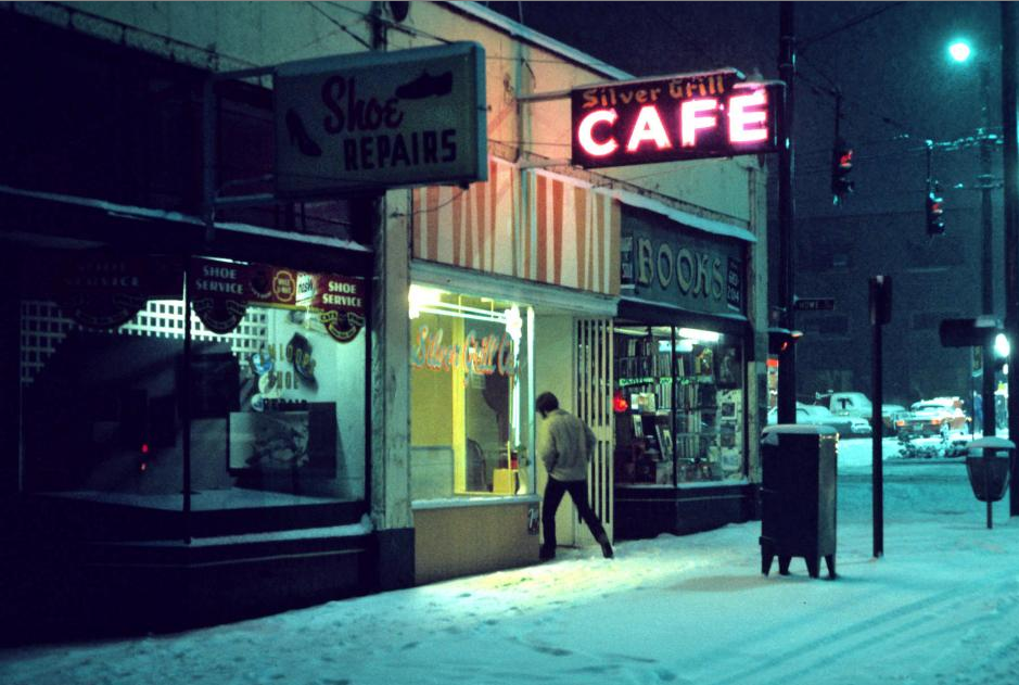 Greg Girard,  Silver Grill Cafe , 6am. (1975).