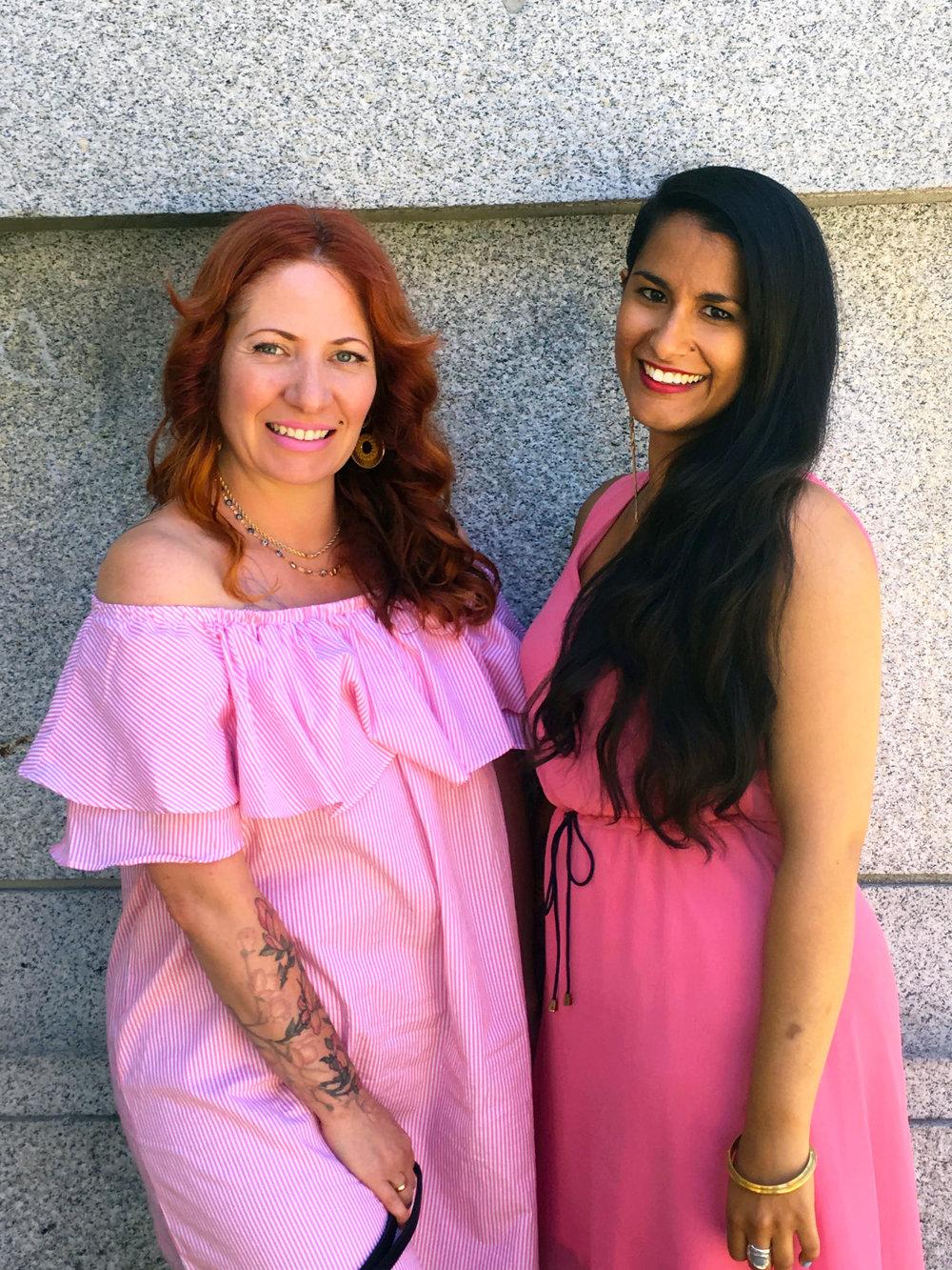 VQFF Artistic Directors Amber Dawn and Anoushka Ratnarajah