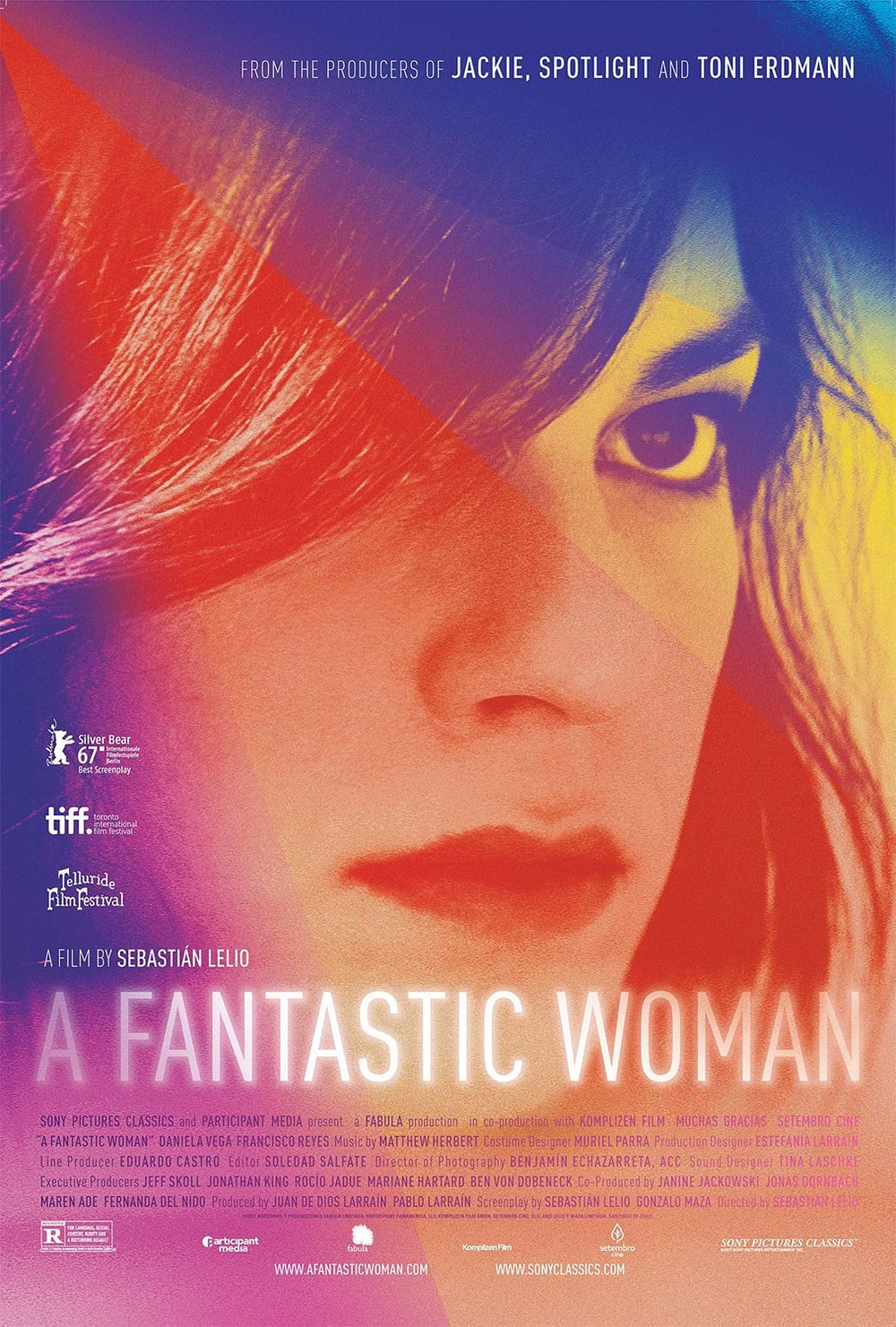 Una Mujer  Fantástica  poster via VLAFF.
