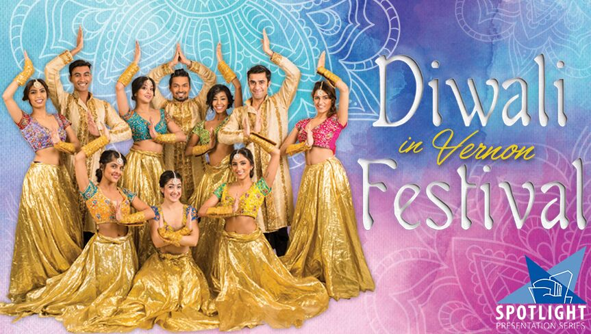 Diwali in Vernon Festival  Poster, featuring the Shiamak Dance Team. via  Diwali in BC.