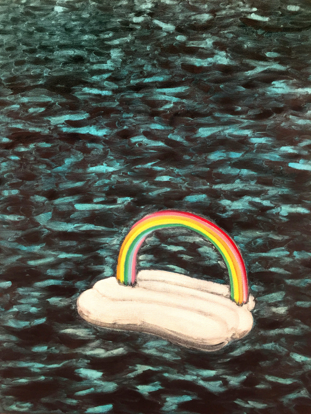 Artwork: Angus Ferguson,  Charon , 2018 (oil and acrylic on canvas)