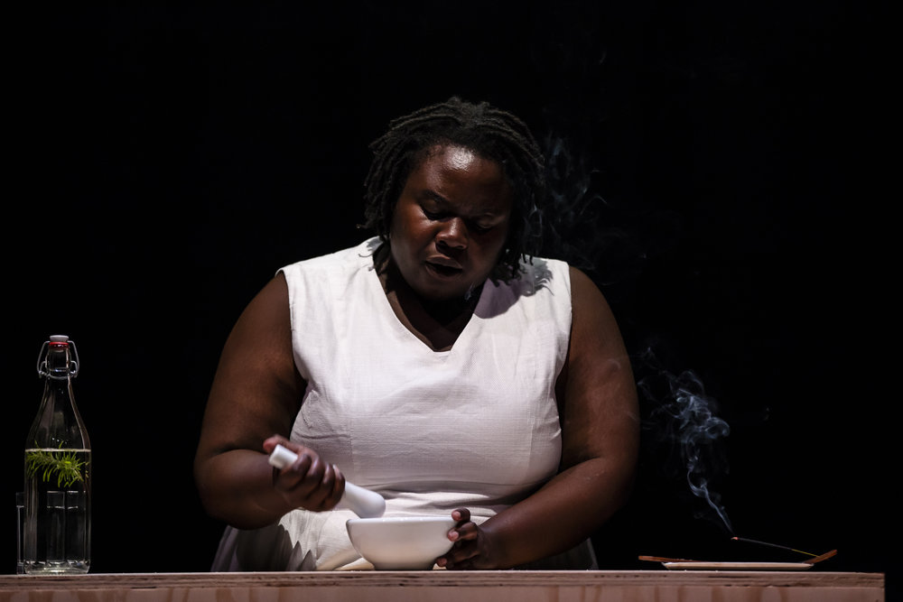 Selina Thompson in  salt , photo by Bryony Jackson.