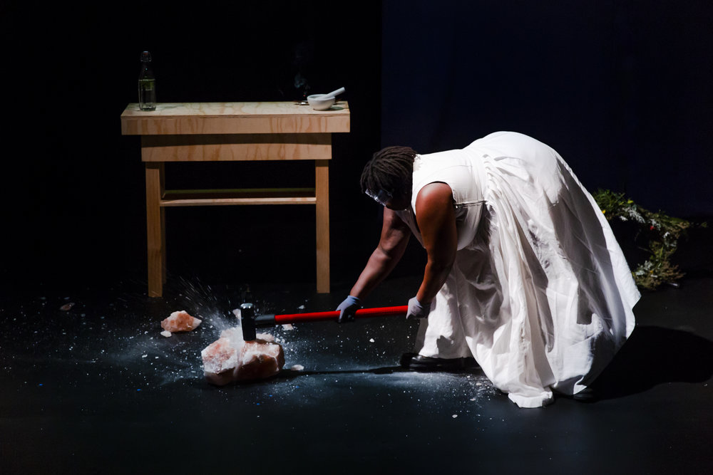 Selina Thompson in  salt.  Photo by Richard Davenport/The Other Richard.