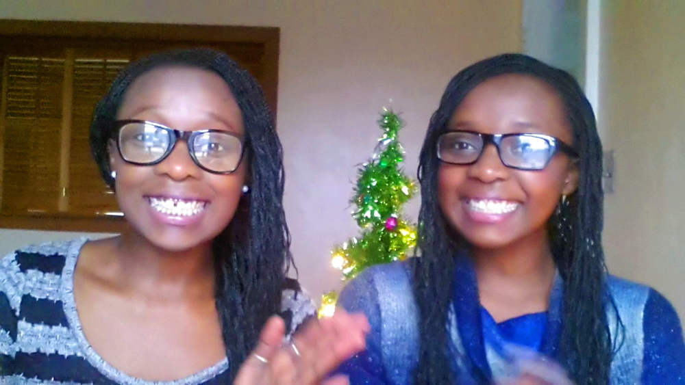 Melissa (right) and Mandy (left) Nomelle came to Syracuse in January 2014 (Photo provided by Melissa Nomelle).