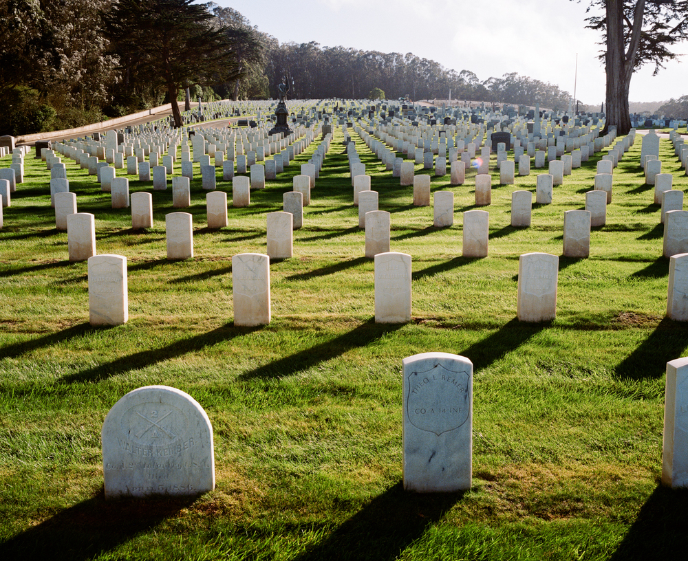 behind the remarkable presidio cemetery