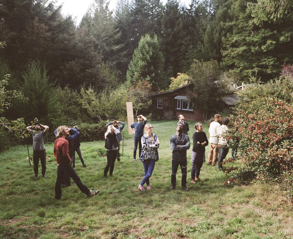 These images were commissioned by the  Graham Foundation  to document the inaugural  RSVP cycle  workshops that marked the changing of hands at  Salmon Creek Farm , a commune founded in 1971 on 33 acres of redwood forest in Mendocino, now being revived by  Fritz Haeg , from one community to another.
