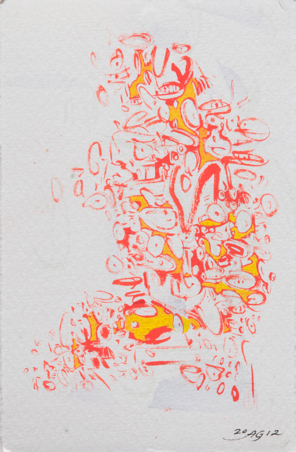 Quickies II:b , 2012 Ink on paper 5 1/2 x 3 1/2 inches