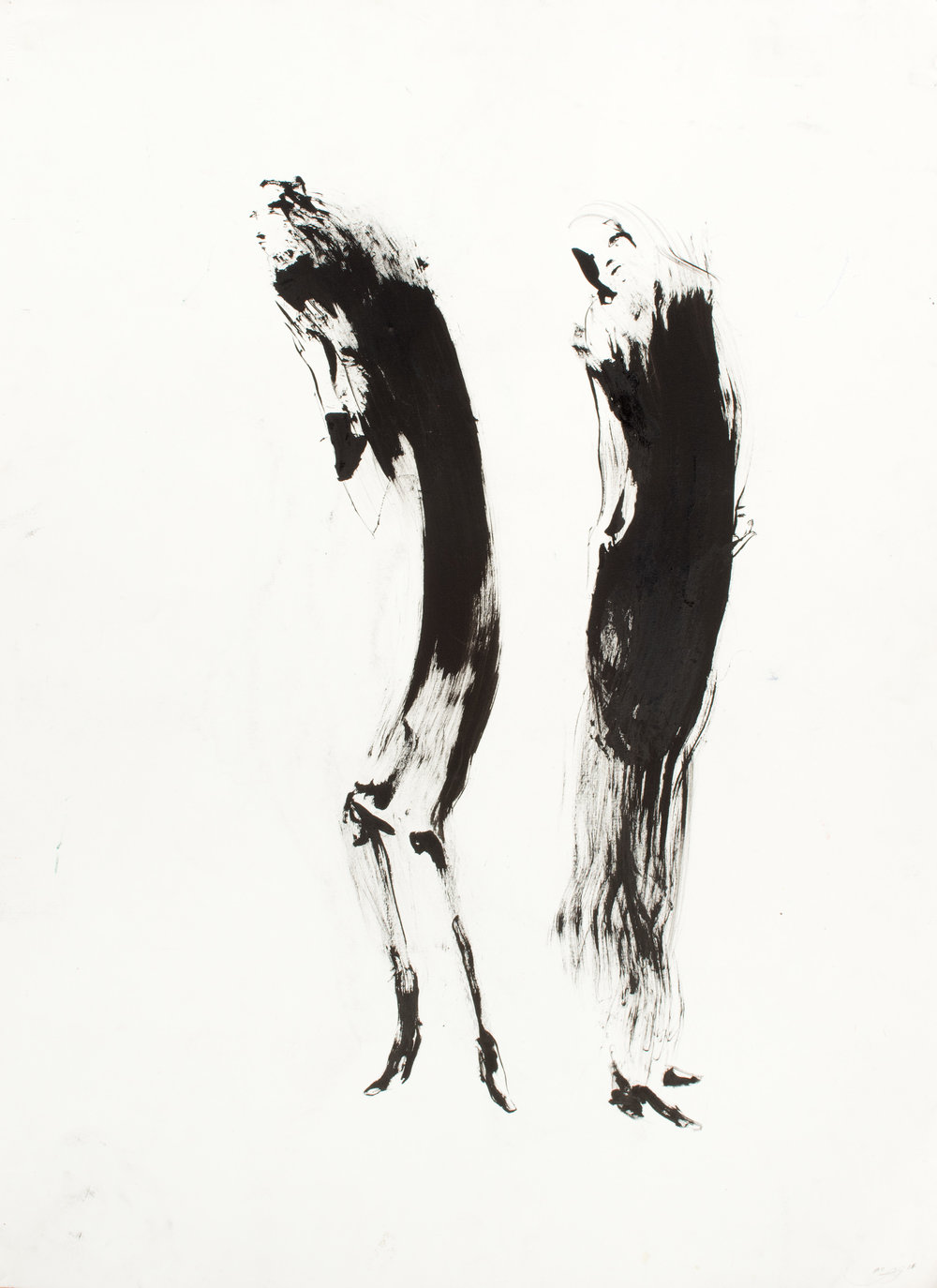 Standby , 2011 Ink on paper 30 x 22 inches