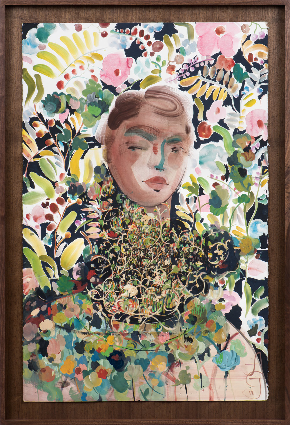 Nino , 2018 Gouache and watercolor on paper 40 x 26 1/2 inches