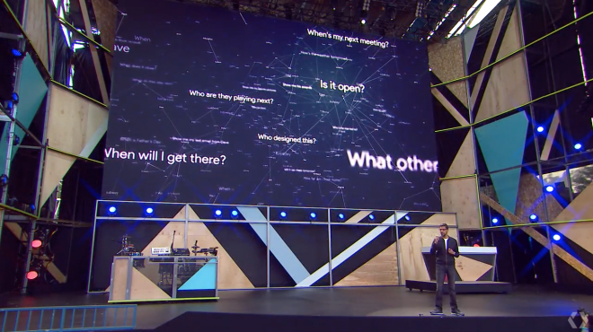 Commissioned by  Google  to develop a visualizer to celebrate Google Translate during its Google IO 2016 conference.. The visual was displayed on stage during Sundar Pichai's keynote.