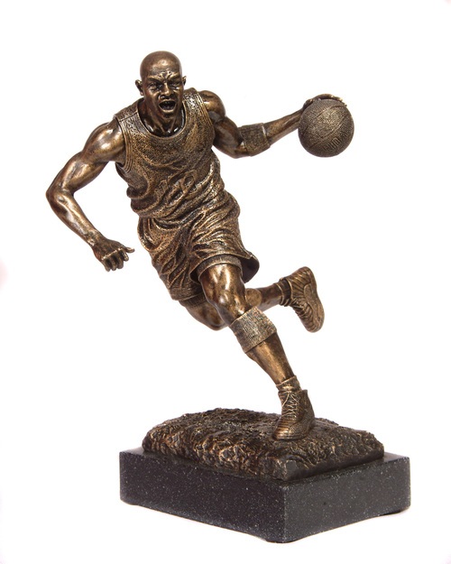 Driving 1 Basketball Trophy