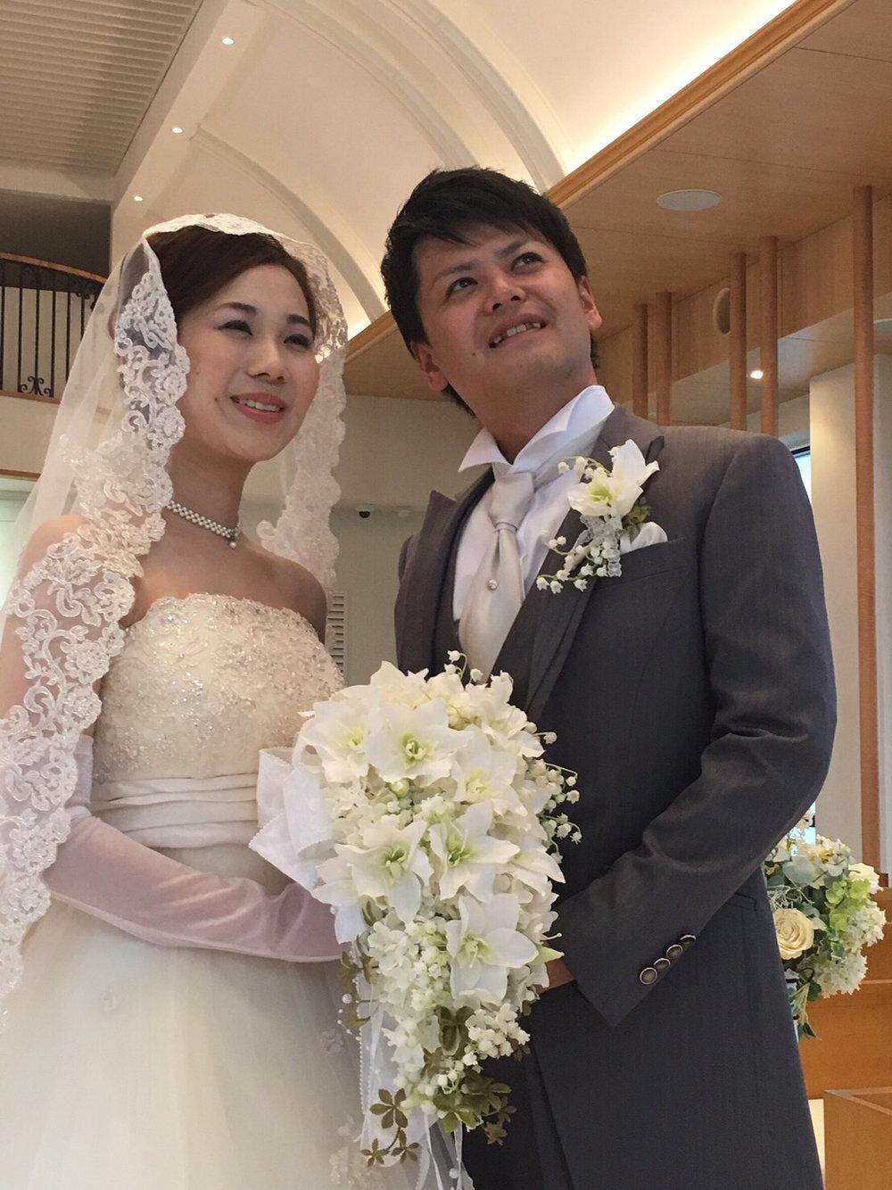 揺れる鈴蘭。。花嫁にぴったり。ブートニアとても素敵なできあがりです。