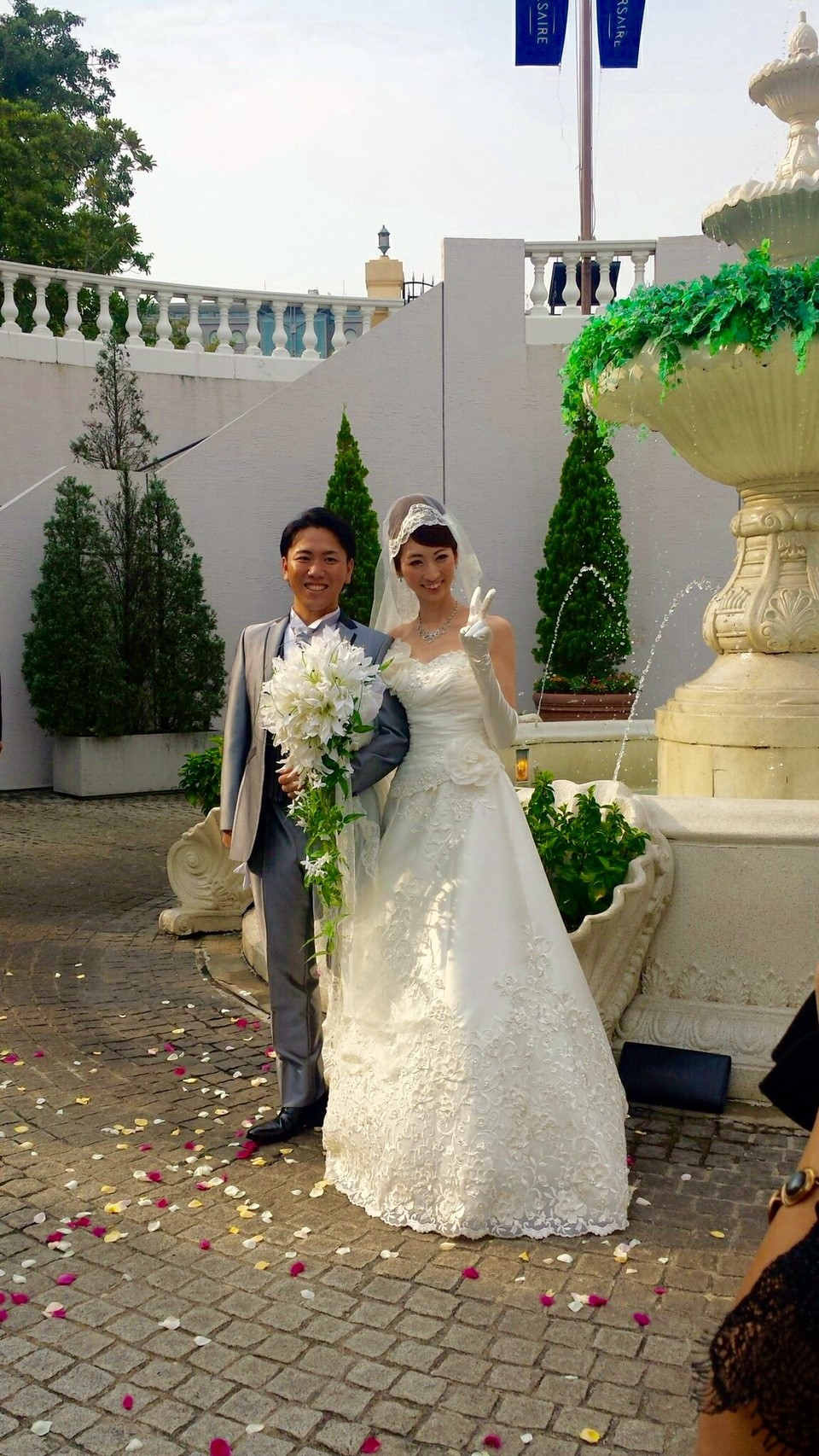 ゆれてゆれて花嫁の優雅な揺れにあわせて。。