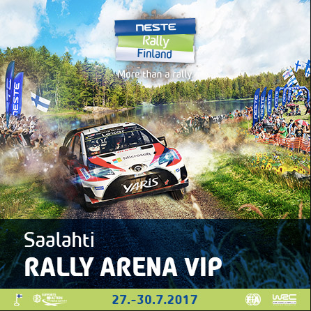 Saalahti Rally Arena VIP Hinta:Hinta: 149€ / hlö (+alv 24%)  Lue lisää
