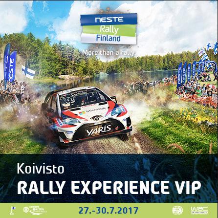 Koivisto Rally Experience VIP Hinta: 199€ / hlö (+alv 24%)  Lue lisää