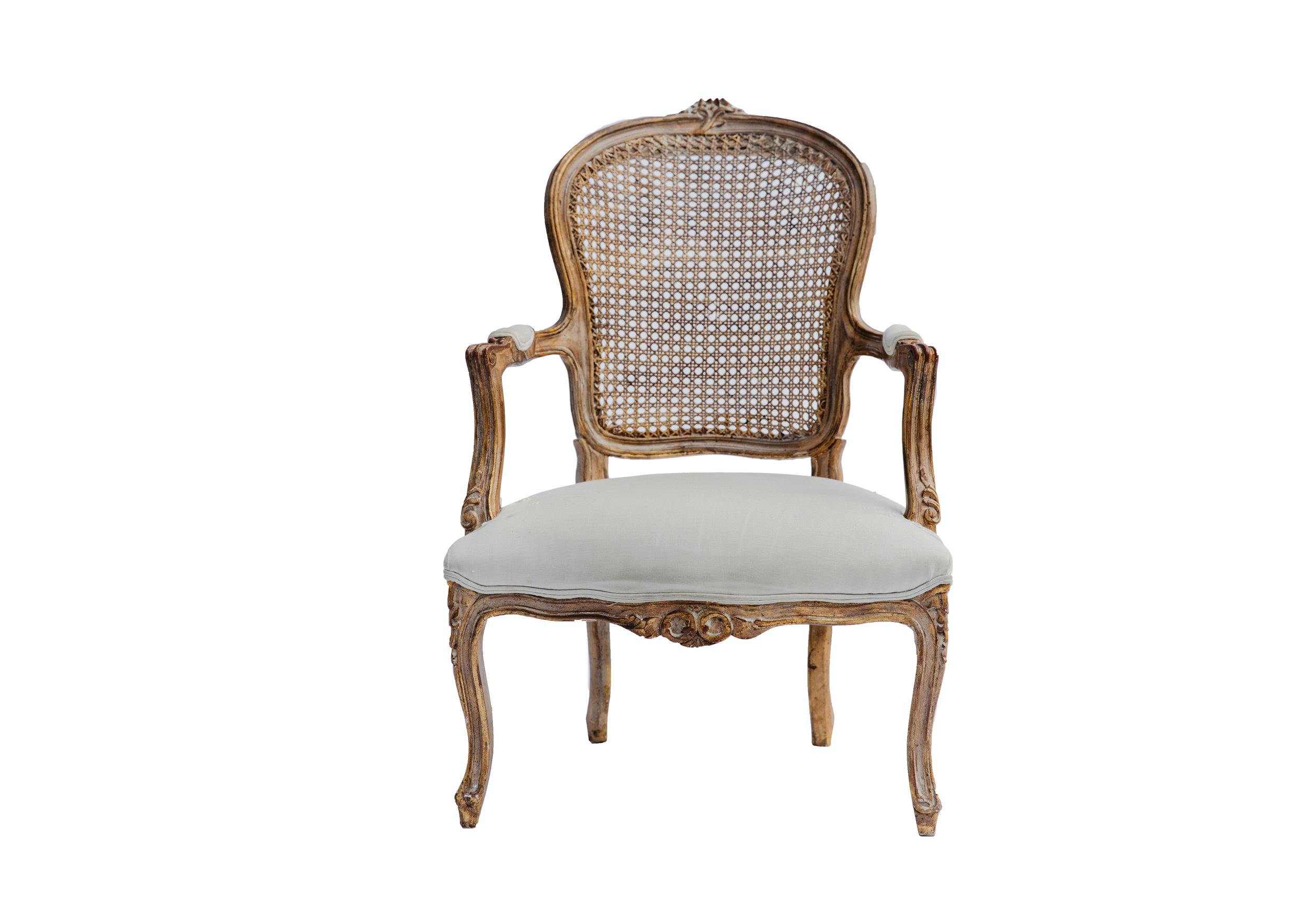 vintage gilt french armchair