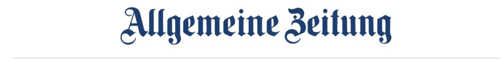 """Logo """"Allgemeine Zeitung"""""""