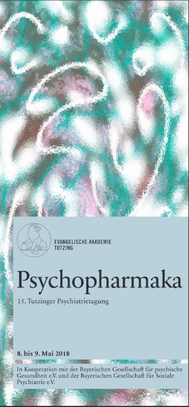 """Motiv der Einladung zur Psychiatrie-Tagung der evanglelischen Akademie Tutzing mit dem Titel """"Pscychopharmaka"""""""