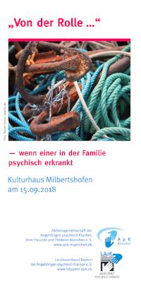 """Angehörigen-Tagung """"Von der Rolle"""" am 15. September 2018 in München"""