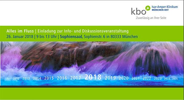 """Titlemotiv der Einladung zu """"Alles im Fluss"""" – Infoveranstaltung des kbo-Isar-Amper-Klinikum am 25. Januar 2019 in München"""