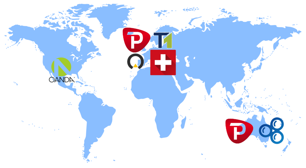 Forex brokers around the world
