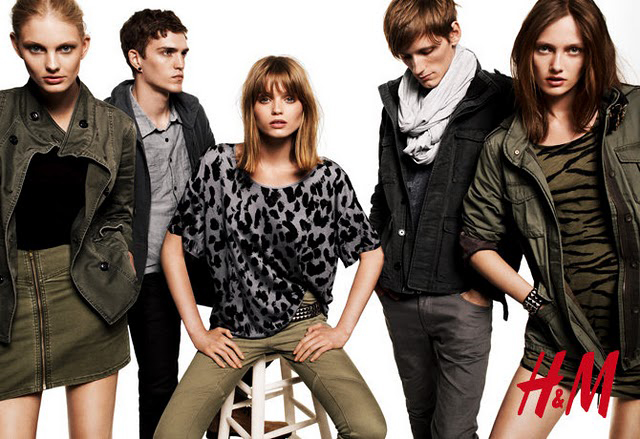 H&M Divided AW 2010 campaign / jackets, skirt and trousers