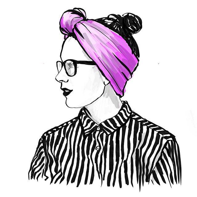 Today I'm inspired by the lovelly headbands from @woolberg.studio ! #finnishdesign #fashionillustration #applepencil #instasketch #ipadproart #procreate #illustrator #illustratorsoninstagram
