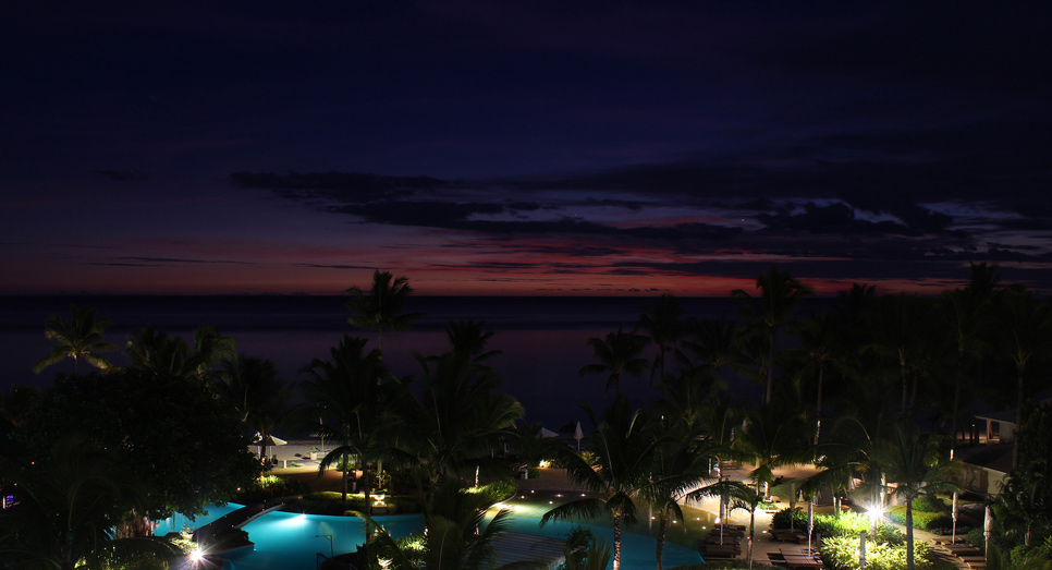 Purple dusk at Sugar Beach Resort & Spa