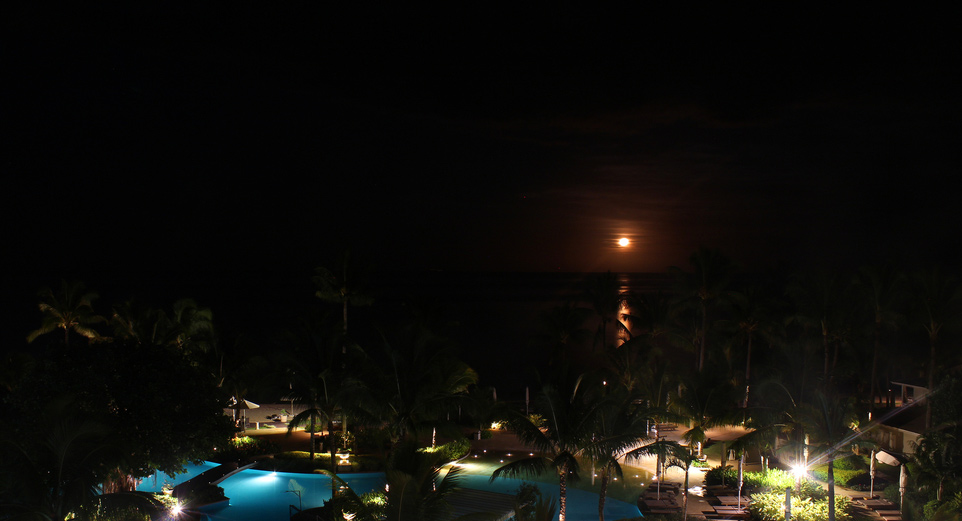 Orange Moon in the sky of Sugar Beach Resort & Spa