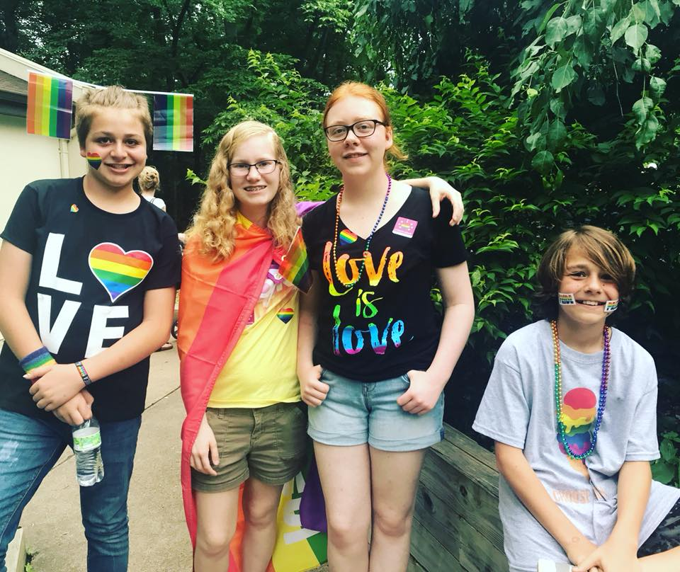 We loved seeing so many young people! Yes, love is love!