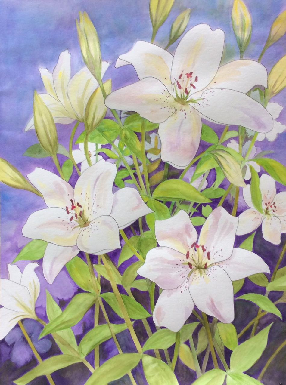 """Eyeliner Watercolor,"" Linda Jones"