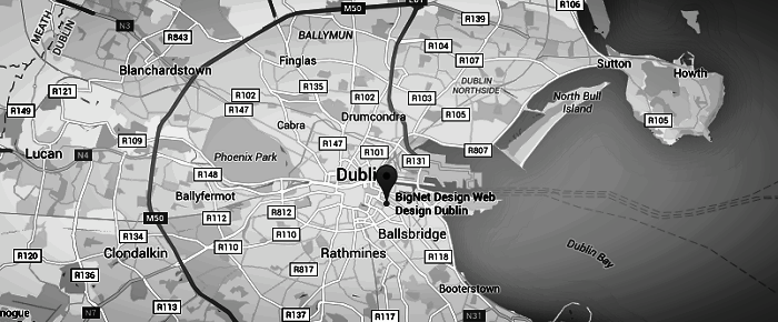 web design agencies Dublin map