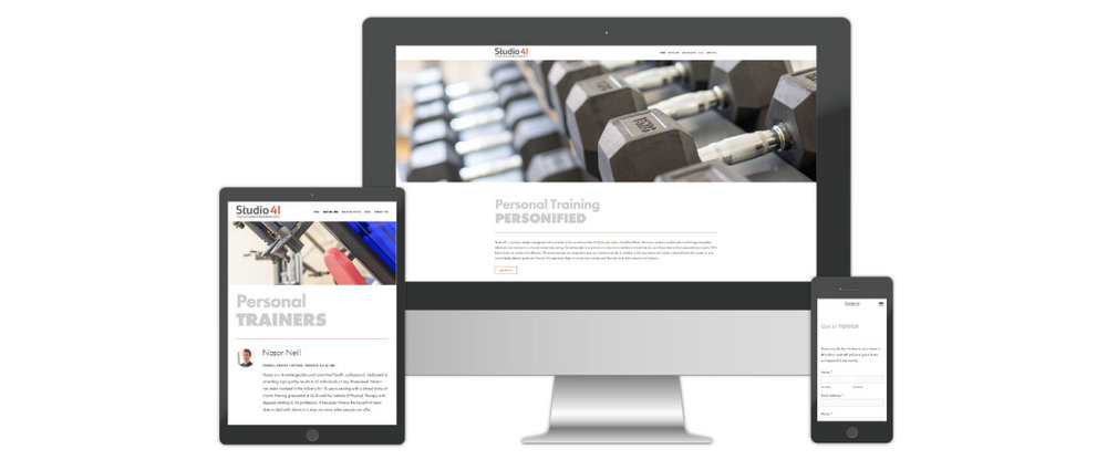 Personal Training Website Design