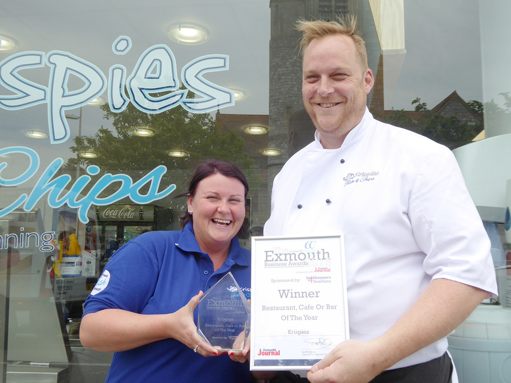 We can't stop smiling! Here we are with our Exmouth Business Award.