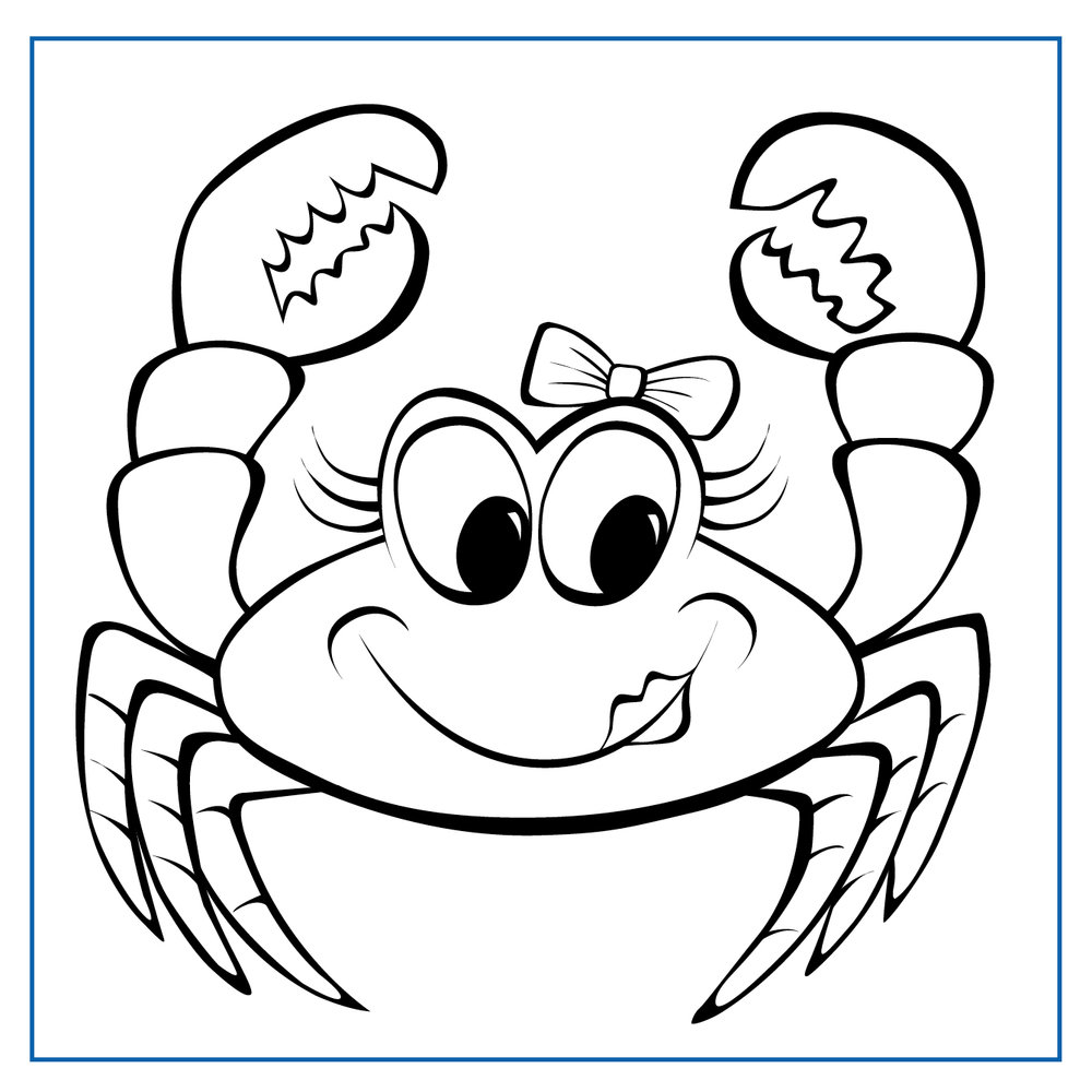 Coco Crab - Click on my picture to print me out and colour me in